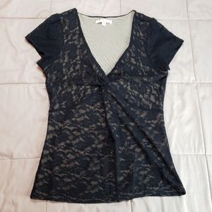 CAbi Lace Short Sleeve Top Style# 354